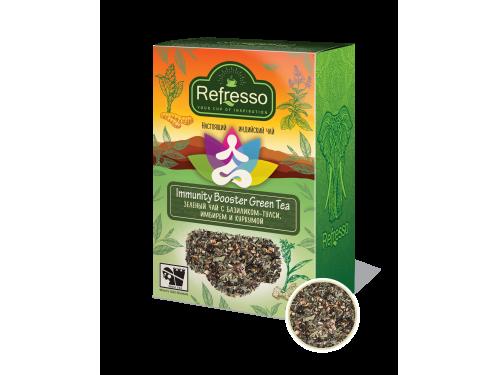 Чай Refresso Immunity Booster Зеленый чай с базиликом-тулси, имбирем и куркумой