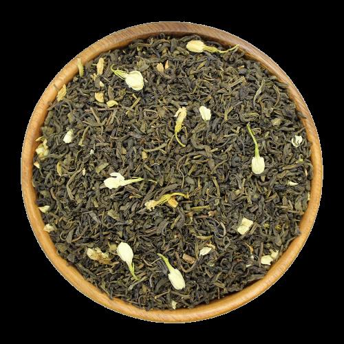 Зеленый чай c цветочками жасмина